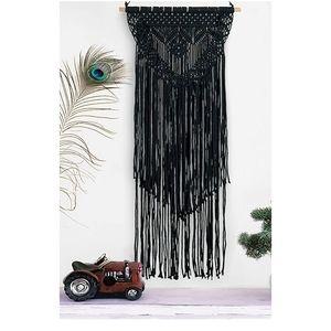 Black BOHO Macrame Wall Art Hanging Deco Fall Autu